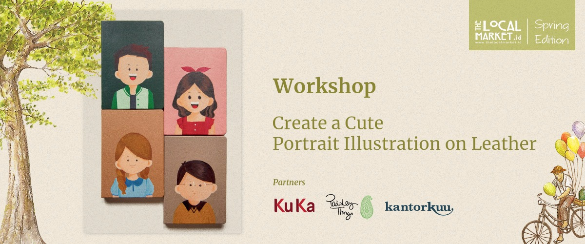 CREATE A CUTE PORTRAIT ILLUSTRATION ON LEATHER (SESSION 1)